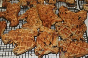 Waffles with Winter Squash and Apples