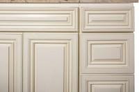 Antique White Bathroom Cabinets Corona   Custom Bathroom ...
