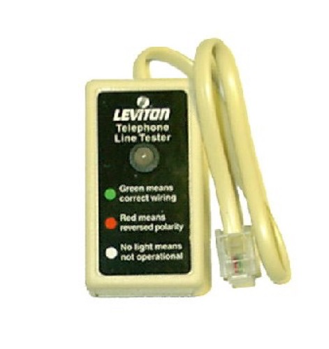 Leviton Phone Tester Modular Line Connector TelePhone Jack Wiring