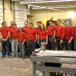 Collision Repair students pose with a completed project for the city of Sunbury.