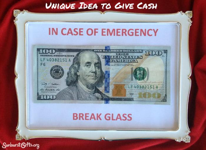 In Case Of Emergency Break Glass Money Gift Thoughtful