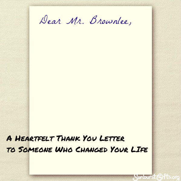 A Heartfelt Thank You Letter to My 5th Grade Mentor - Thoughtful