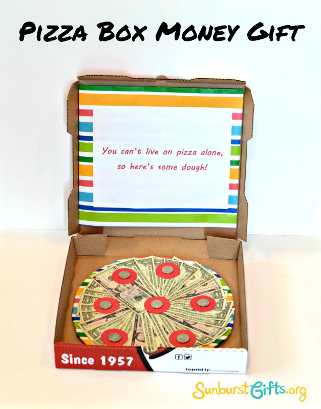 Heres Some Dough Pizza Box Money Gift Thoughtful