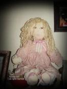 Amanda in Pink rag doll - SOLD