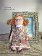 Redheaded Ragdoll with glasses - SOLD