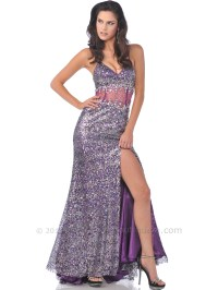 Purple Full Sequin Prom Dress with Slit | Sung Boutique L.A.