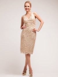 Lace Embroidery Knee Length Dress | Sung Boutique L.A.
