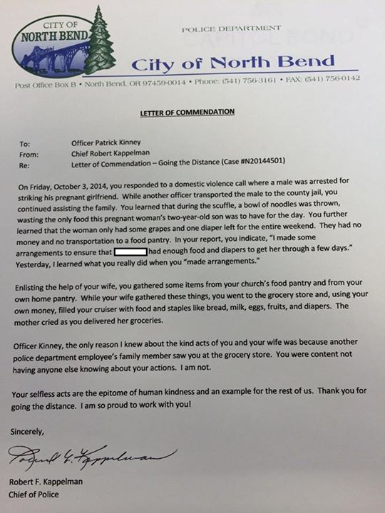 A Police Chief Wrote This Letter To An Officer After Hearing About