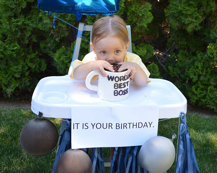 Parents Throw Hilarious Office-Themed Party For Son\u0027s First Birthday