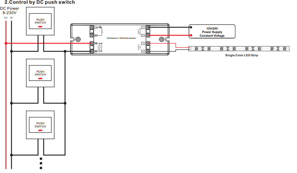 wiring diagram for led dimmer