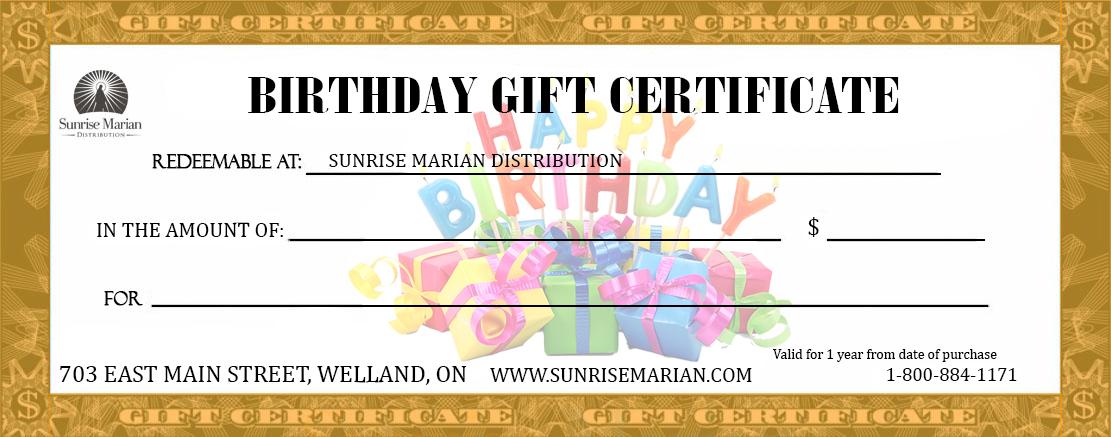 Catholic Birthday Gift Certificate (Birthday-Gift-Certificate)