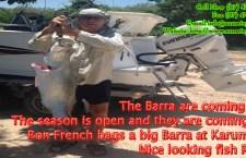 Ron French bags a big Barra at Karumba