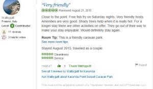 Testimonial Karumba Point Sunset Caravan Park Reviewed August 21, 2015