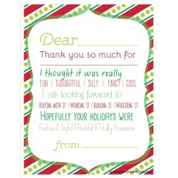 Small Crop Of Christmas Thank You Cards