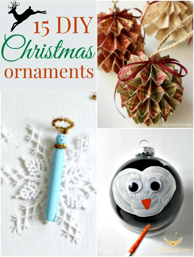 15 Amazingly Simple DIY Christmas Ornaments