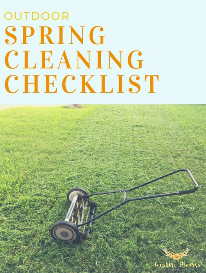 Outdoor Spring Cleaning Checklist