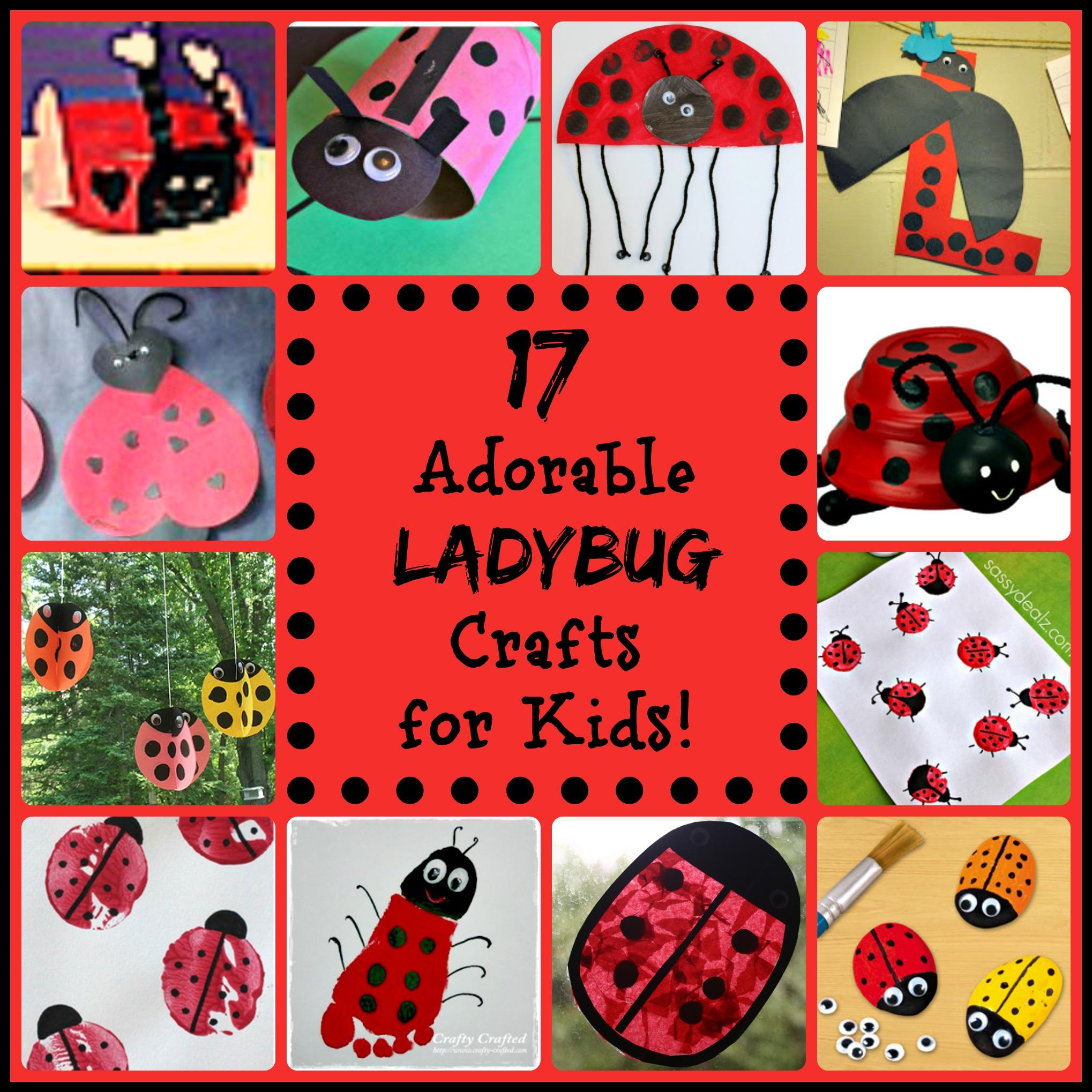 17 little ladybug crafts for kids for Crafts for little kids
