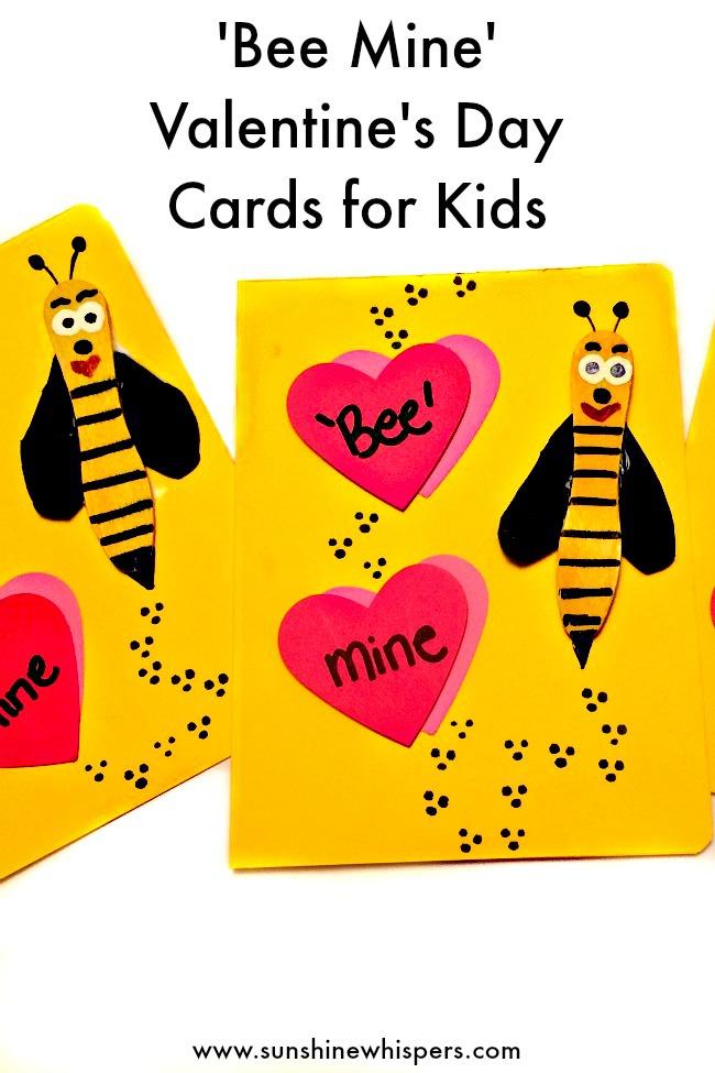 Adorable \u0027Bee Mine\u0027 Valentine\u0027s Day Cards for Kids