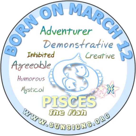 Pisces March 12 - Birthday Horoscope Meanings  Personality