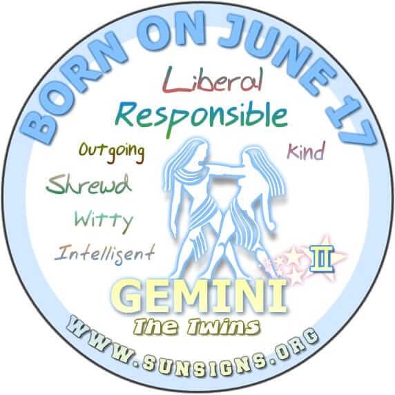 June 17 - Birthday Horoscope Personality