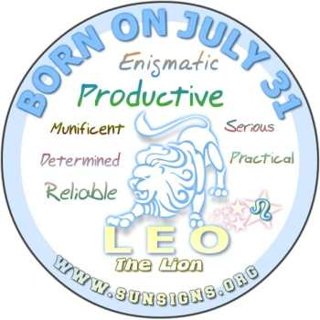 July 31 Birthday Horoscope Personality | Sun Signs