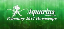 February 2015 Aquarius Monthly Horoscope
