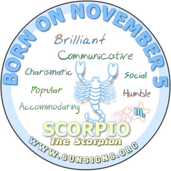 November 5 Zodiac Birthday Horoscope Personality SunSignsOrg