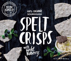 SunSpelt Crisp Bread with Wild Bilberry