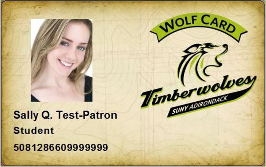 Wolf Card SUNY Adirondack - student identification card