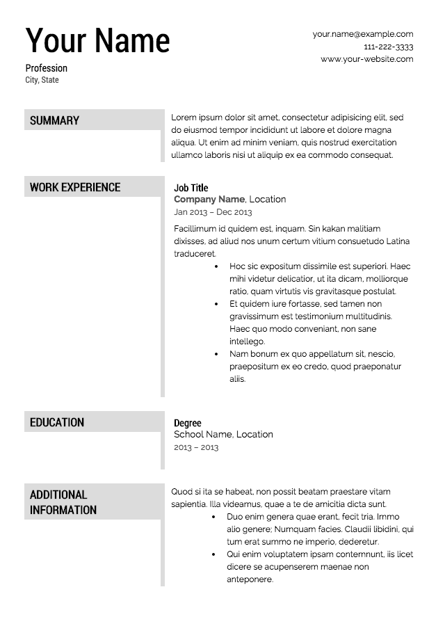 Free Resume. Director Cv Template