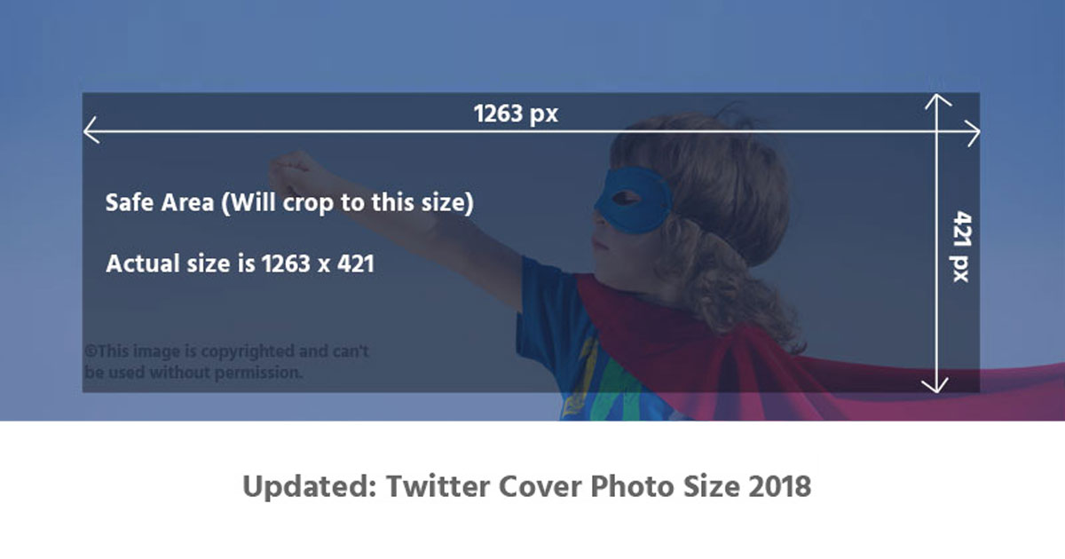 Updated Twitter Cover Photo Size 2018 Template Superbolt Studios