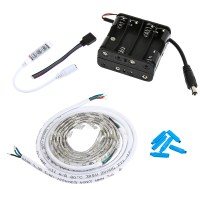 Battery Powered Led Light Strips Kit Single Color 2 ...