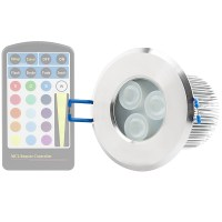 RGB LED Downlight - Waterproof Recessed LED Light (Remote ...