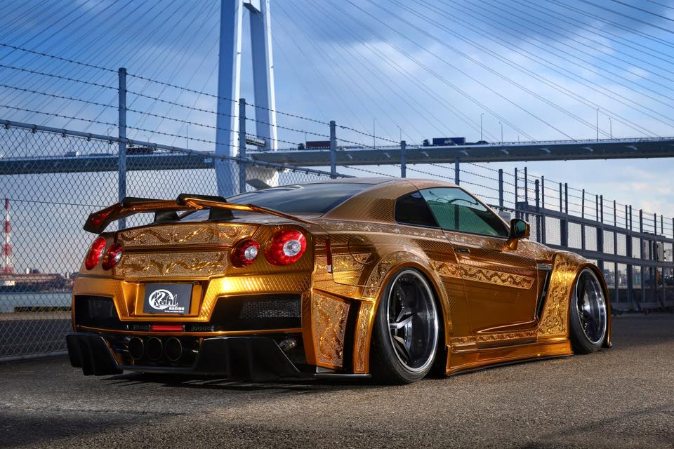 Mazda Race Car Wallpaper Gold Engraved Nissan Gt R By Kuhl Racing Supercar Report