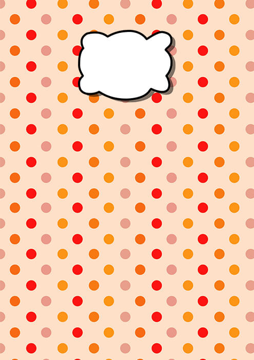 Polka Dot Printable Binder Cover Free Printable Papercraft Templates