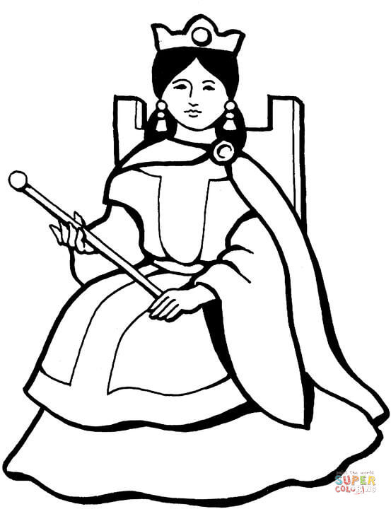 Gorgeous Queen coloring page Free Printable Coloring Pages - best of coloring pages of king and queen