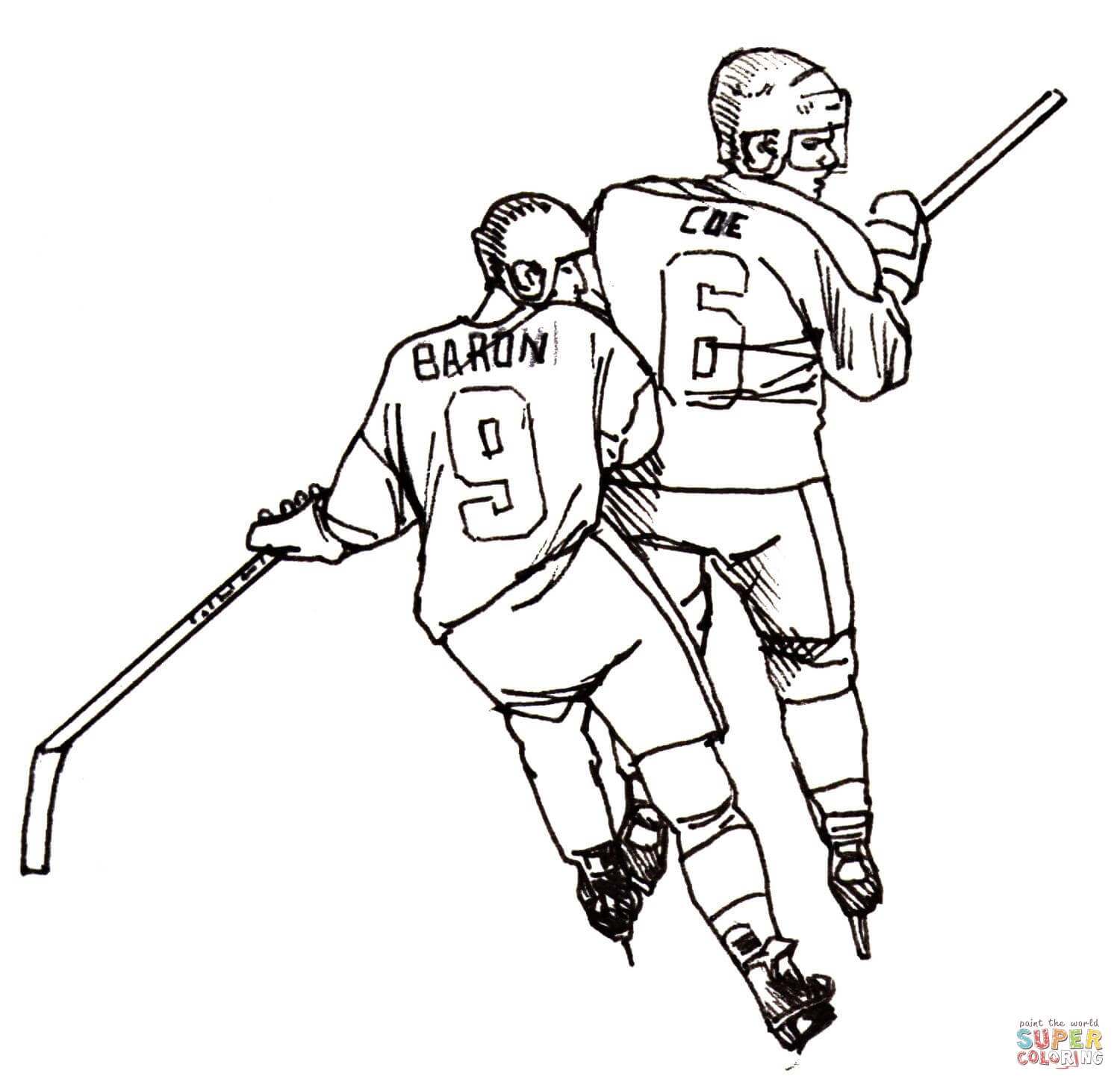 100 hockey coloring page outstanding printable hockey