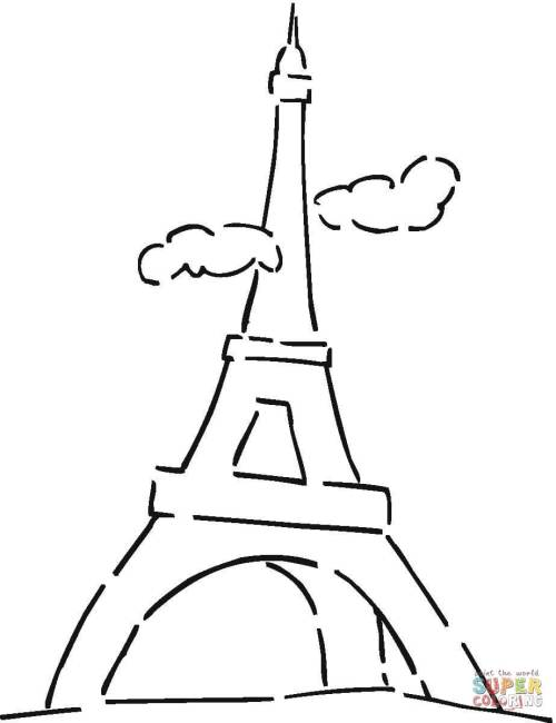 Mesmerizing Clouds Coloring Page Free Printable Coloring Pages Eiffel Tower Cartoon Black Paris Eiffel Tower Cartoon Drawing Clouds Eiffel Tower Click Eiffel Tower