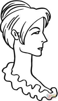 Viso Donna Stilizzato Arte Violav