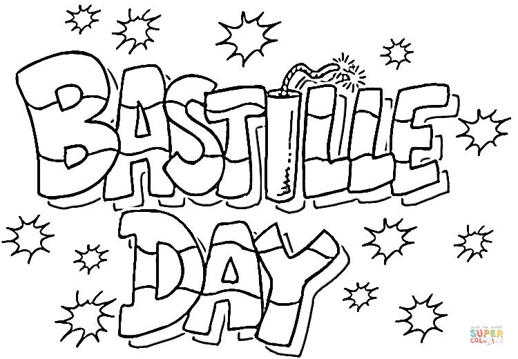 Bastille Day Coloring Page Free Printable Pages