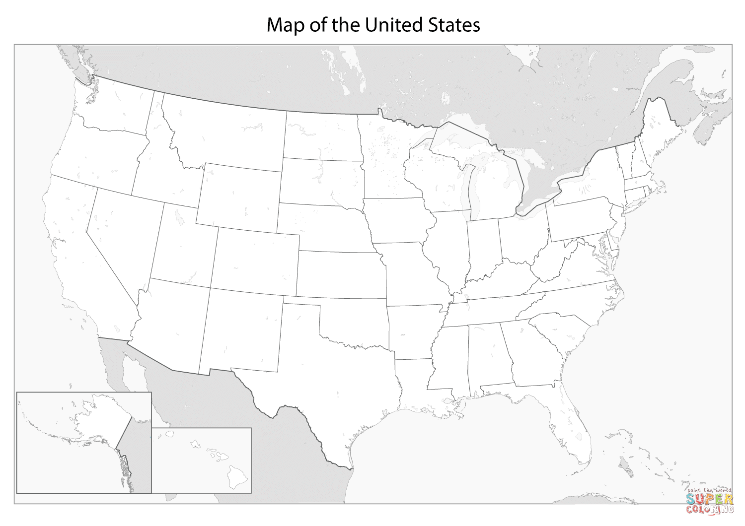 Image Result For Daily Coloring Pages United States Map