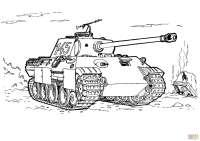Disegno di Carro armato Panther da colorare