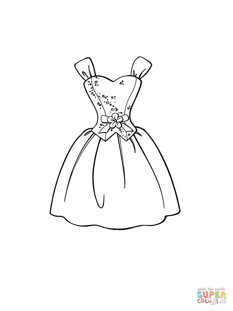 Click the beautiful dress coloring pages