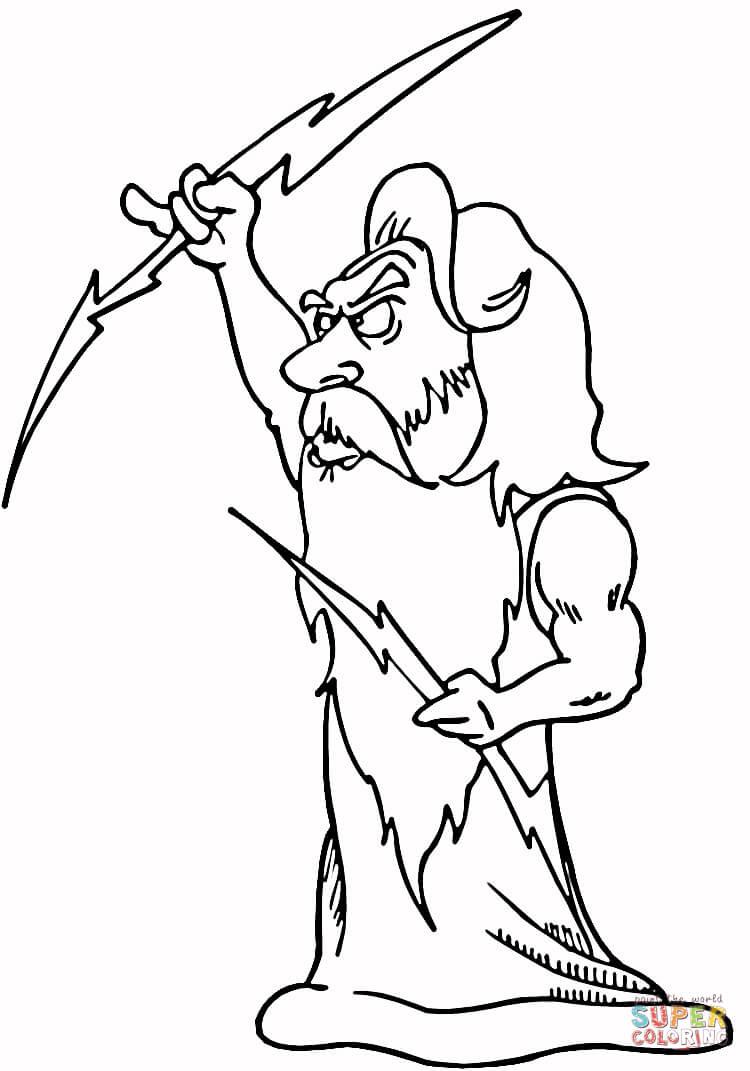 Zeus Coloring Pages - Eskayalitim