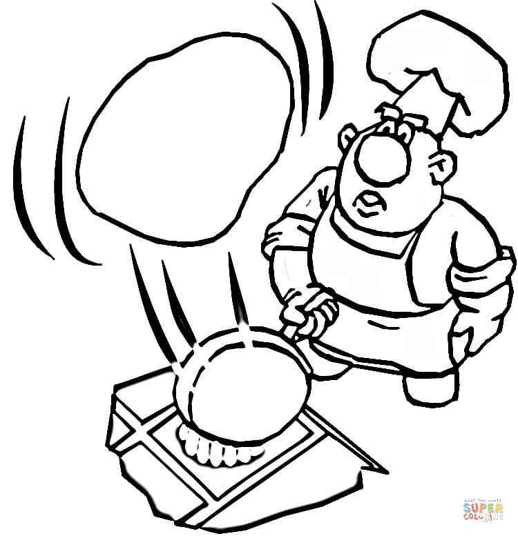Cooking a pancake coloring page Free Printable Coloring Pages