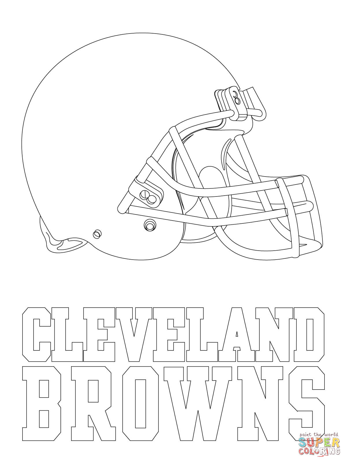 Cleveland Browns Coloring Pages - Eskayalitim