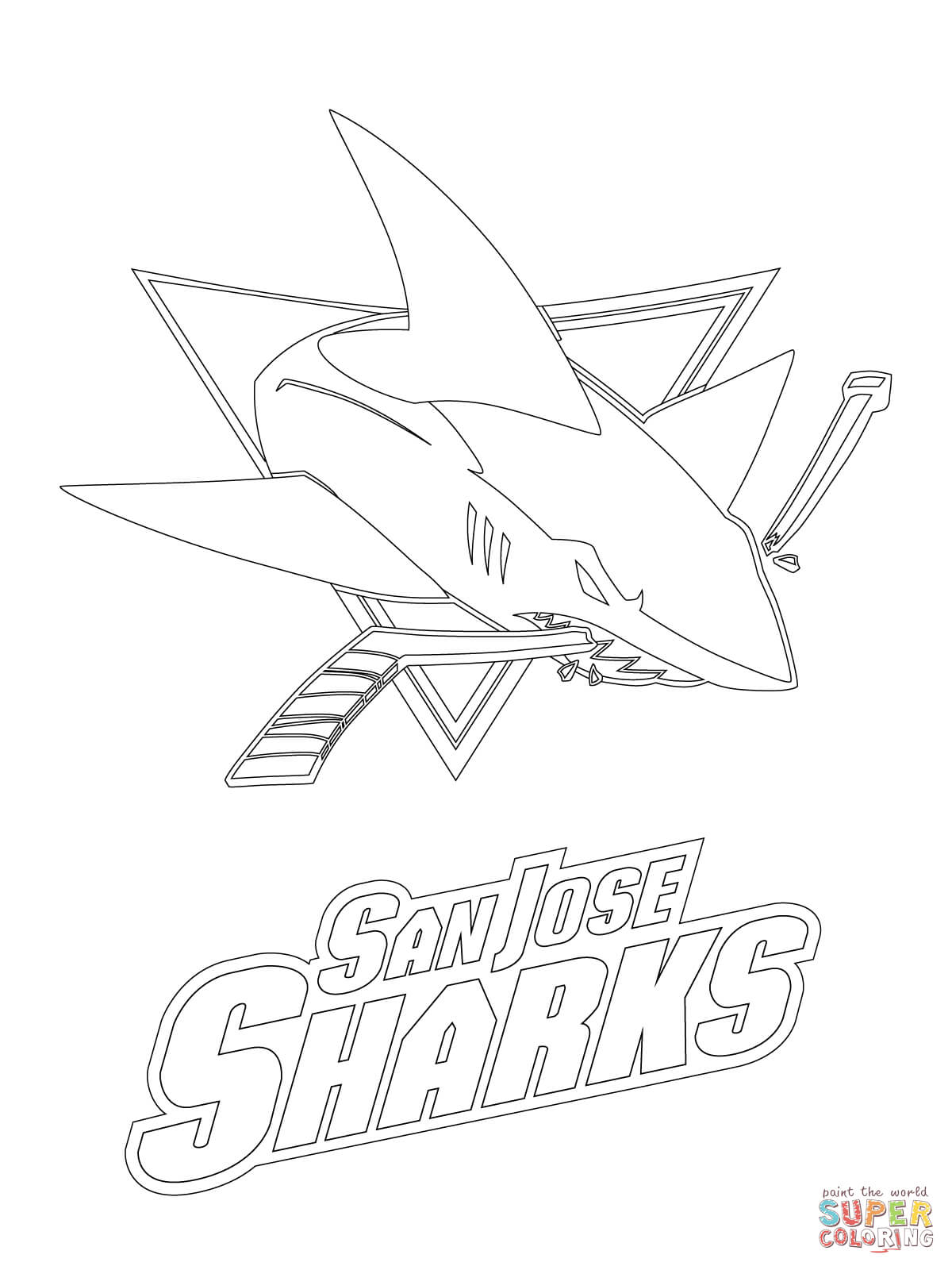 printable coloring pages sharks