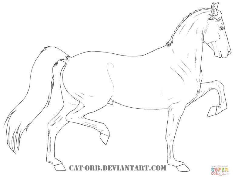 drawing of hackney ponies
