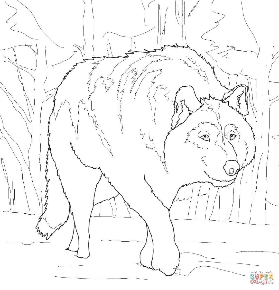 Grey Wolf Coloring Pages - Eskayalitim
