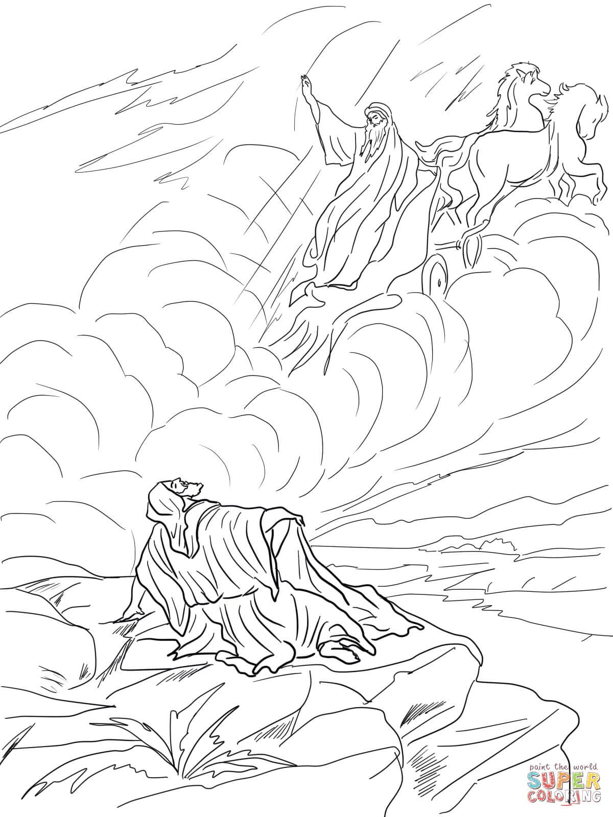 Free coloring page elijah - Free Coloring Pages Elijah Goes To Heaven